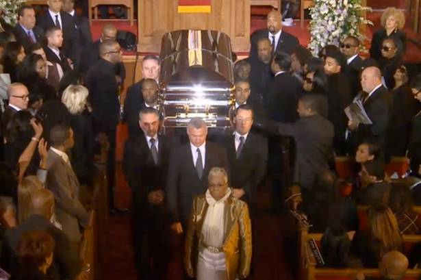 Redd Foxx Open Casket http://straightfromthea.com/2012/03/05/carolyn-whigham-funeral-home-whitney-houstons-casket-photo-press-conference/