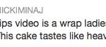 nicki minaj tweet