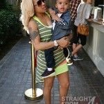 Keyshia Cole Gibson Family Outing 041812-5