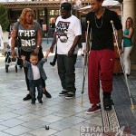 Keyshia Cole Gibson Family Outing 041812-9