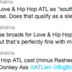 Freshalina Love and Hip Hop Tweets
