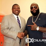 GOOD DEEDS! Rick Ross & Swizz Beatz Head Back To High School… [PHOTOS]