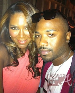 Kenya Moore Ray J Rickey Smiley Set