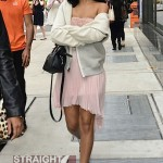 Nip Slip? Rihanna Bares Boobies On NYC Street Corner… [PHOTOS]