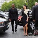 Kanye Kim Kardashian in Paris 070312-11