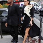 Kanye Kim Kardashian in Paris 070312-13