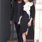 Kanye Kim Kardashian in Paris 070312-7