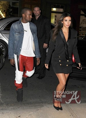 kanye west kim kardashion fashion week 1