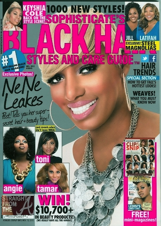 covers the November 2012 issue of Sophisticate's Black Hair magazine ...
