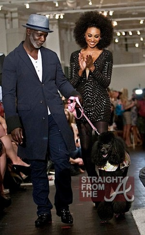 Cynthia-Bailey-and-Peter-Thomas-Model-With-a-Poodle