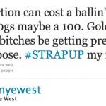 Kanye Golddigger tweet