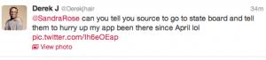 Derek J tweet