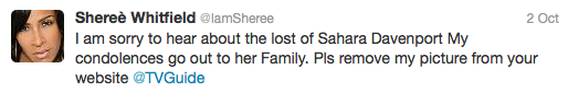 Sheree Whitfield Tweet