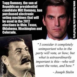 Tagg Romney Voting Maching Scandal
