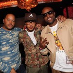 Jason Geter, T.I. &amp; Rico Love at Moet Rose Lounge Miami