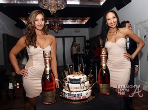 Moet Rose Lounge Miami Servers and Celebratory Cake