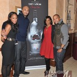Roe Williams, Darius Hines, Trey's Mom and Kevin Liles at the GREY GOOSE Cherry Noir VIP Bar at the Trey Songz Chapter V Tour - Atlanta