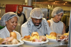 TeddyRiley serving food
