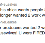 nene leakes confirms kim zolciak fired
