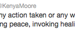 Kenya Moore Tweet 1