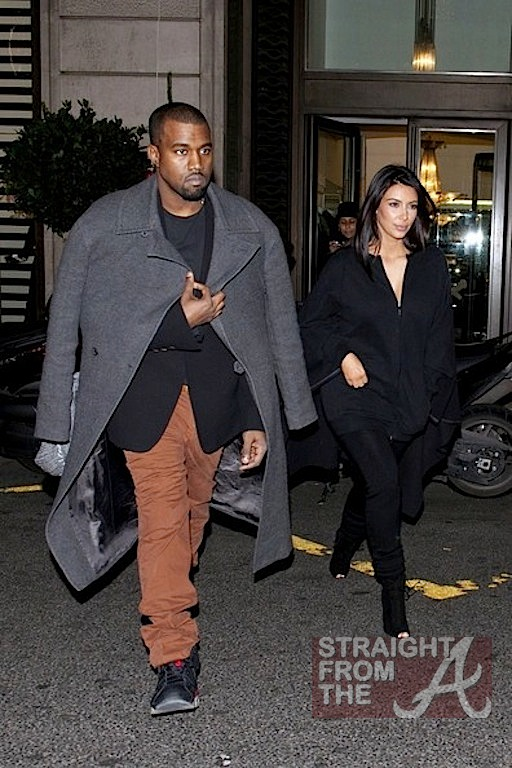 Kanye Kim Kardashian in Paris 010813-2