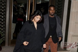 Kanye Kim Kardashian in Paris 010813-3