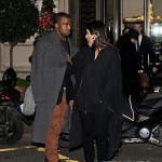 Kanye Kim Kardashian in Paris 010813-4