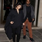 Kanye Kim Kardashian in Paris 010813-6