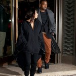 Kanye Kim Kardashian in Paris 010813-7