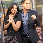 Toni Braxton on 'Extra' with Mario Lopez -5
