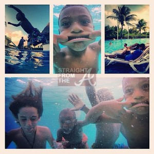 Usher and Sons Vacation 2013-1
