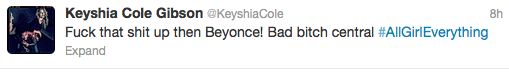 Keyshia Cole Tweet 1