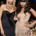 Tyra Banks Jennifer Hudson - Clive Davis Grammy Party 1