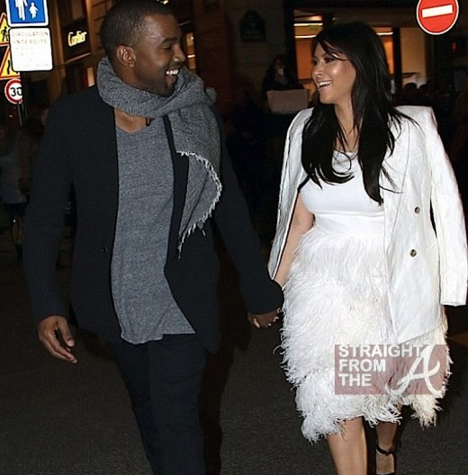 kanye kim pregnant