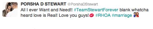 porsha stewart tweet