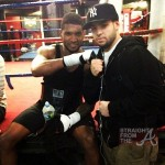 Usher and Fan at Boxing Ring