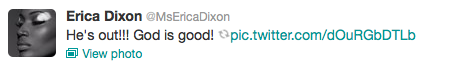 Erica Dixon Tweet