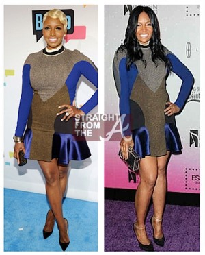 Nene Leakes Marlo Hampton Same Dress