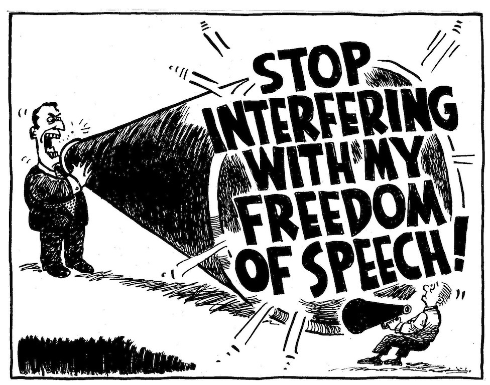 Freedom of Speech and the Fallacy of Demanding to be Heard