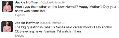 Jackie Hoffman Tweet