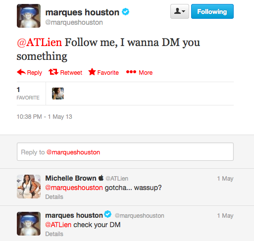 Marques Houston Tweet 1