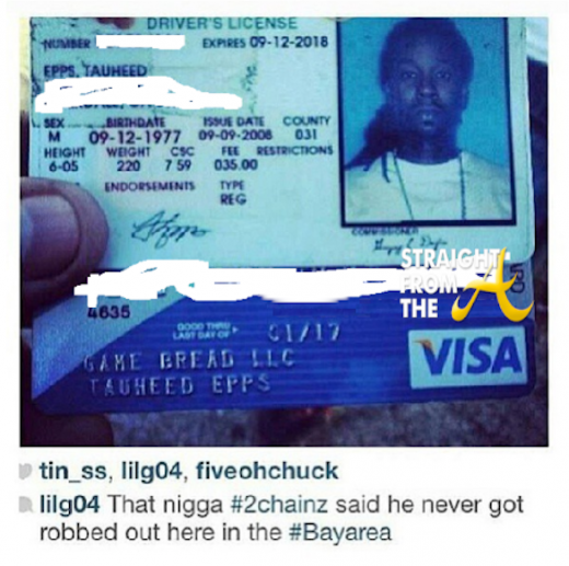 2chainz drivers license bank card sfta
