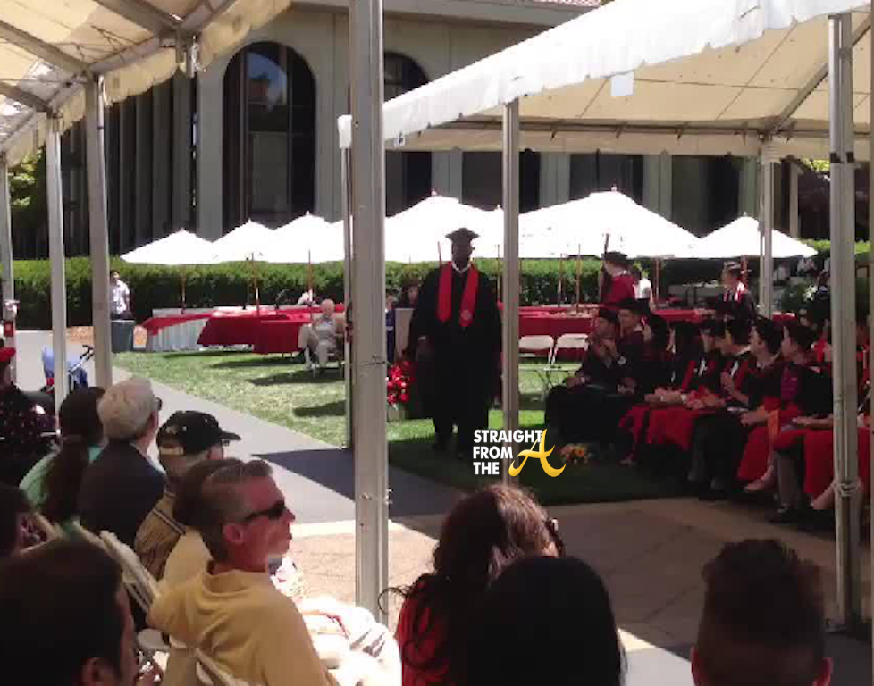 Bob Whitfield Graduates Stanford 061613-1