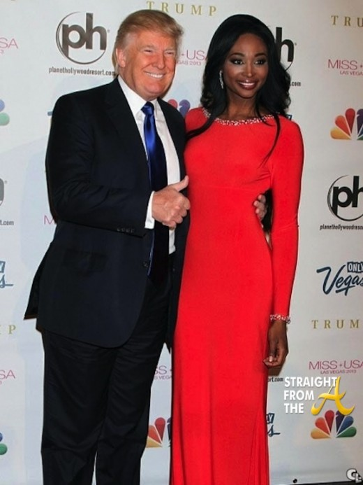 Donald Trump and Nana Meriwether 2013 Miss USA SFTA 2
