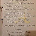 Nene Greg Leakes Wedding Program 1