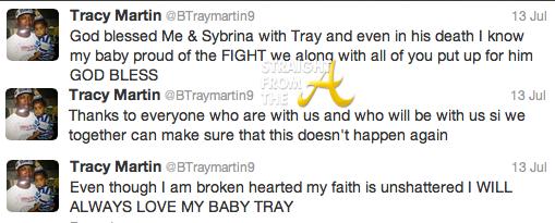 tracy martin tweet