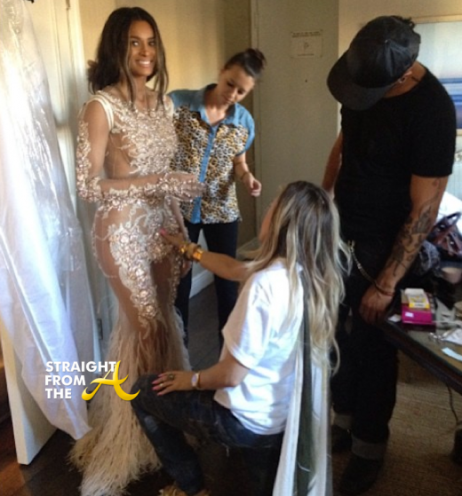 Ciara Givenchy Couture Fitting 2013