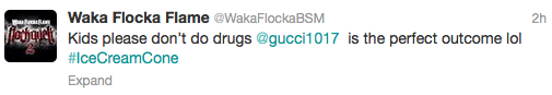 Waka Flocka tweet
