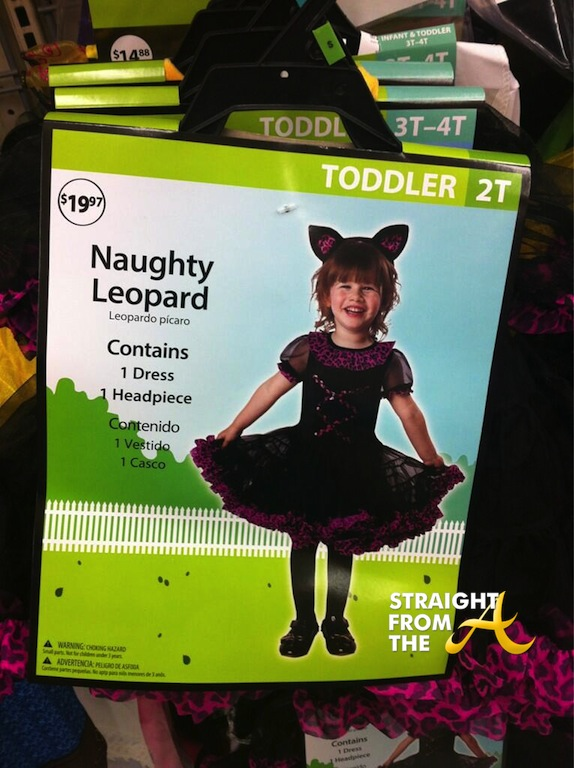 walmart naught leopard child halloween costume