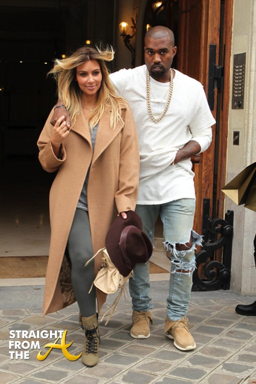 Kim Kanye Paris 2013 2
